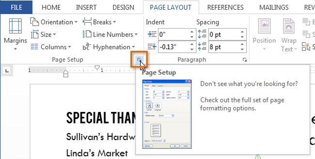 Kích thước trang của tài liệu sẽ được thay đổi.