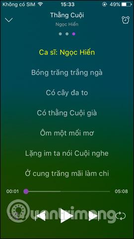 Hát karaoke trên Zing MP3