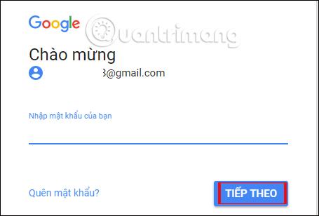 Mật khẩu Google Drive