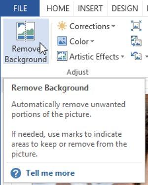 Nhấp vào lệnh Remove Background.