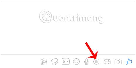 Biểu tượng biều đồ trên Messenger