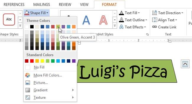 Để xem thêm các tùy chọn màu sắc, hãy chọn More Fill Colors