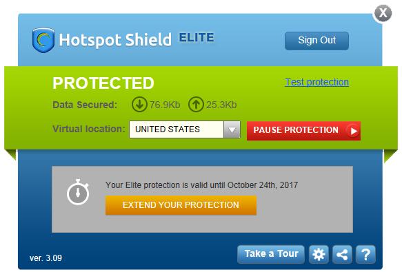 Hotspot Shield fake IP