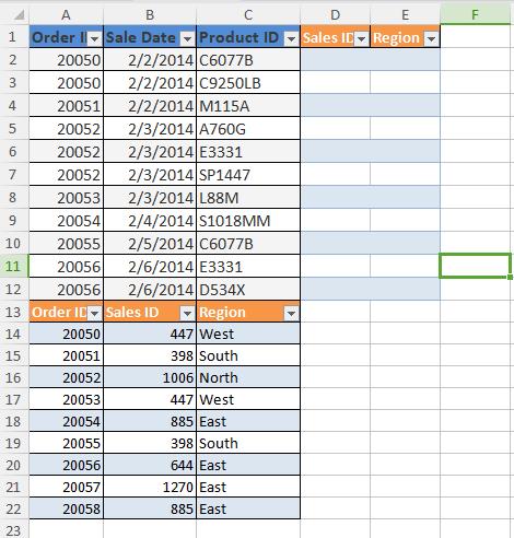 Bắt đầu thao tác ghép hai bảng Excel bằng VLOOKUP