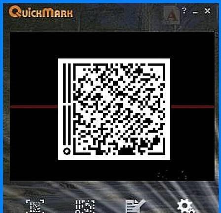 Phần mềm quét mã vạch QuickMark for PC