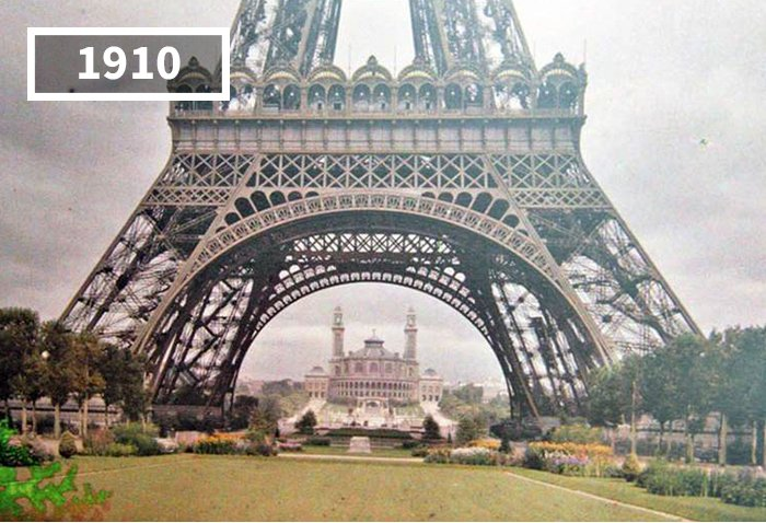 Tour Eiffel, Paris, Pháp, 1910