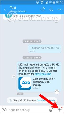 Nhóm chat Zalo
