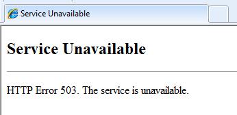 Lỗi 503 Service Unavailable