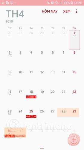Lịch nghỉ lễ 30/04 và 1/5/2018