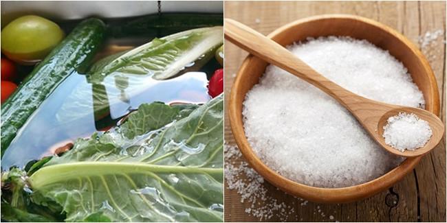 Ngâm rau quả trong nước muối có tốt không?