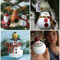 20 ý tưởng làm đồ trang trí Giáng sinhtừ thìa, tất cũ hay len thừa