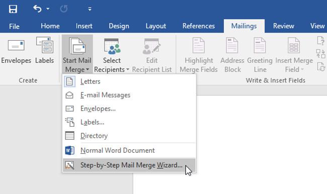 Sử dụng word để gửi email hàng loại