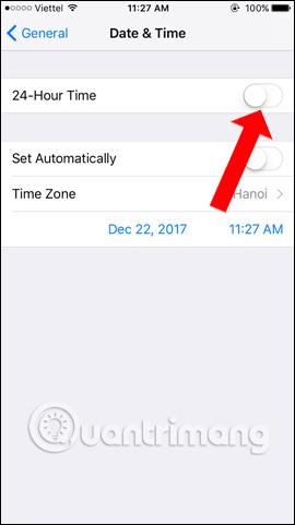 Tắt chỉnh ngày giờ tự động