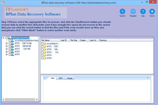 Phần mềm khôi phục dữ liệu BPlan Data Recovery