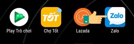 Truy cập vào ứng dụng Zalo