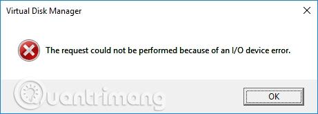 Thông báo lỗi I/O device error