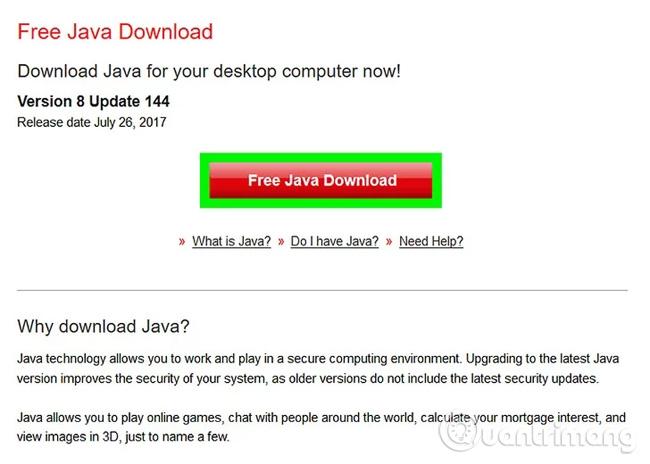 Cài đặt Java trên máy tính (nếu chưa cài đặt)