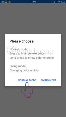 Chọn Normal Mode để kiểm tra.