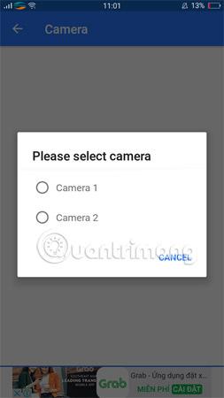 Chọn Camera trước hoặc sau để kiểm tra.
