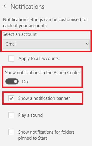 Tắt thông báo mail trong Windows 10