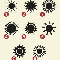 Chọn một hình ảnh Mặt trời và bạn sẽ biết bí mật trong tính cách của mình là gì