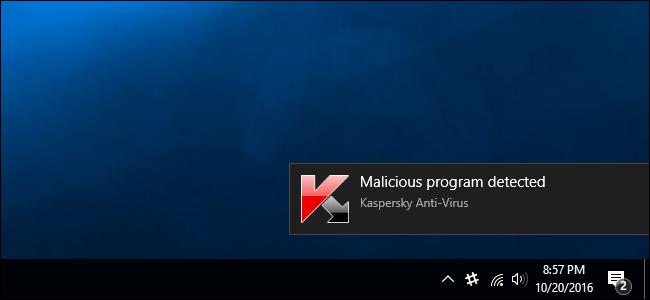 Thông báo phát hiện virus trên máy tính