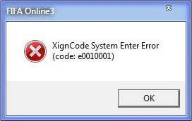 Lỗi Xigncode