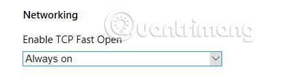 Bật TCP Fast Open