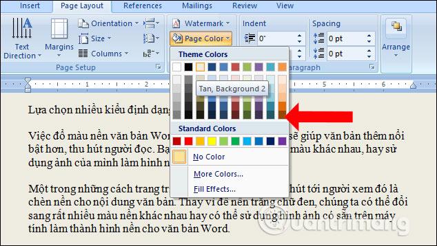 Cách đổ màu nền văn bản trong Word - Ảnh minh hoạ 2