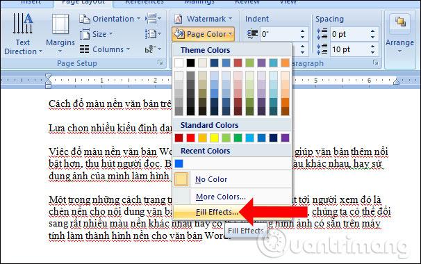 Cách đổ màu nền văn bản trong Word - Ảnh minh hoạ 6