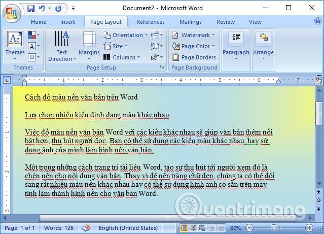 Cách đổ màu nền văn bản trong Word - Ảnh minh hoạ 8