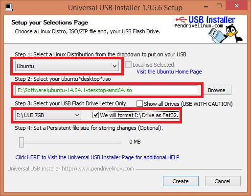 Chọn thiết bị USB