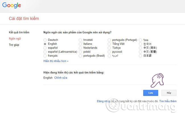 Cách thay đổi ngôn ngữ trên Google - Ảnh minh hoạ 14