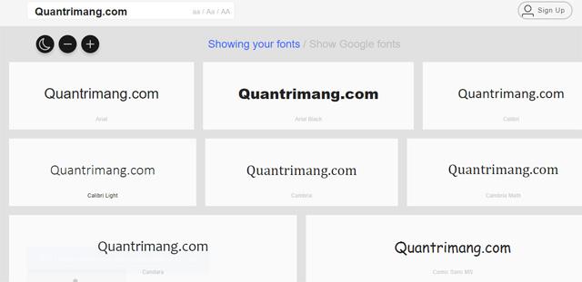 Website giúp bạn quản lý toàn bộ font chữ đã được cài đặt trong máy tính - Ảnh minh hoạ 2