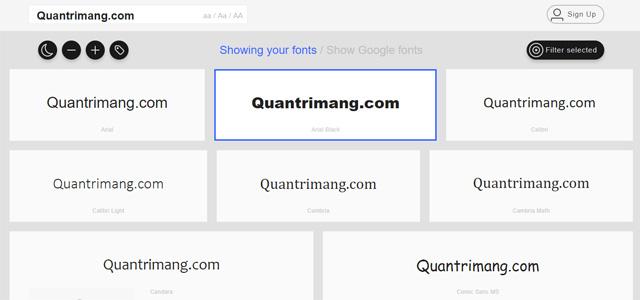 Website giúp bạn quản lý toàn bộ font chữ đã được cài đặt trong máy tính - Ảnh minh hoạ 3