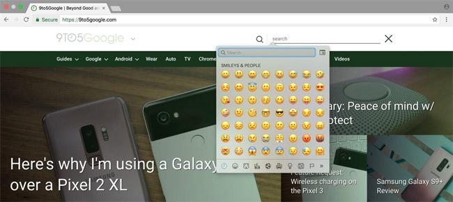 Lựa chọn emoji muốn sử dụng