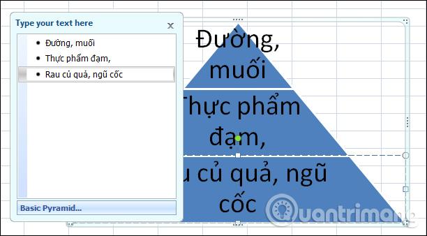 Cách tạo đồ họa SmartArt trên Excel - Ảnh minh hoạ 4