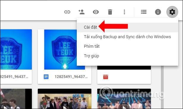 Truy cập Cài đặt Google Drive