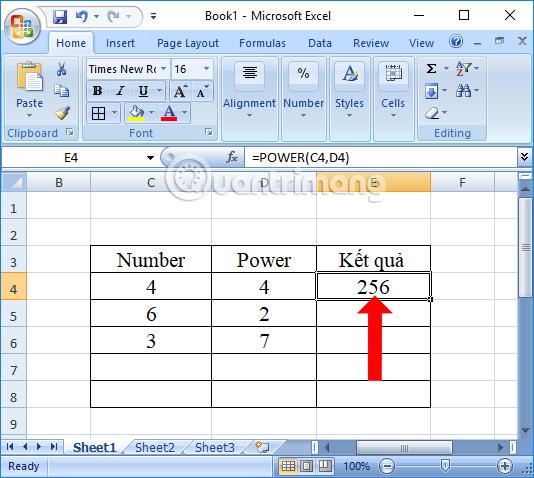 Cách dùng hàm Power trong Excel - Ảnh minh hoạ 3