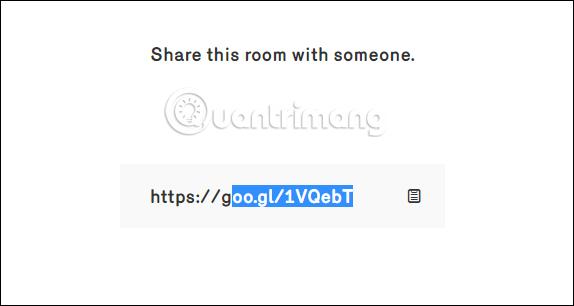 Chia sẻ link phòng chat