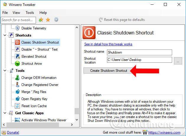 Cách tùy chỉnh Windows với Winaero Tweaker