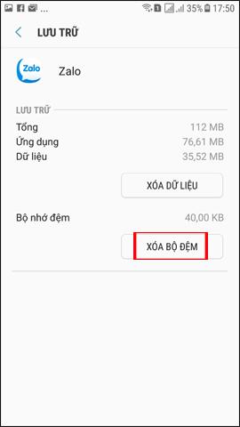 Xóa bộ nhớ cache ứng dụng