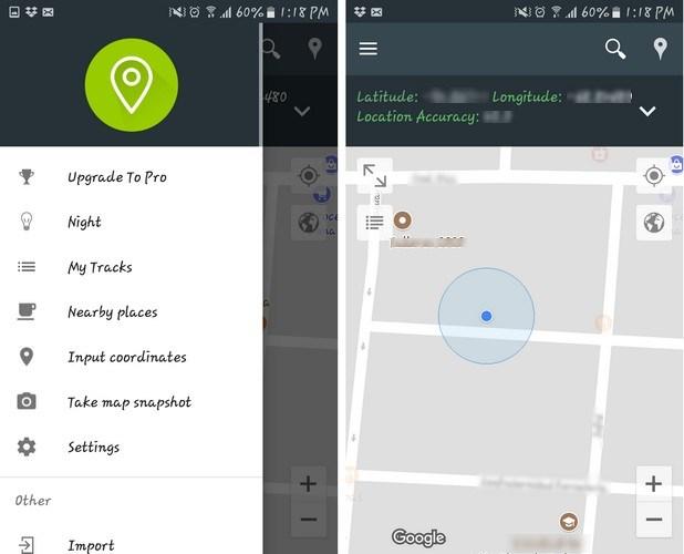 Giao diện ứng dụng chia sẻ vị trí My Location