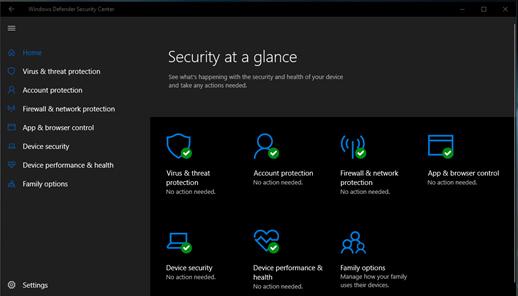 Trong Windows 10 Spring Creators, Windows Defender được đổi tên thành Windows Security
