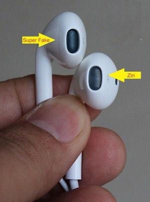 Phân biệt bằng cách xem màng loa tai nghe