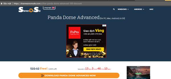 Mời tải Panda Dome Advanced, phần mềm diệt virus giá 21,12USD, đang miễn phí