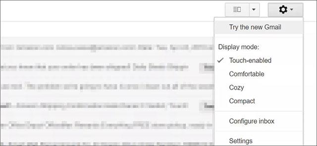 Bật Gmail mới trên tài khoản cá nhân