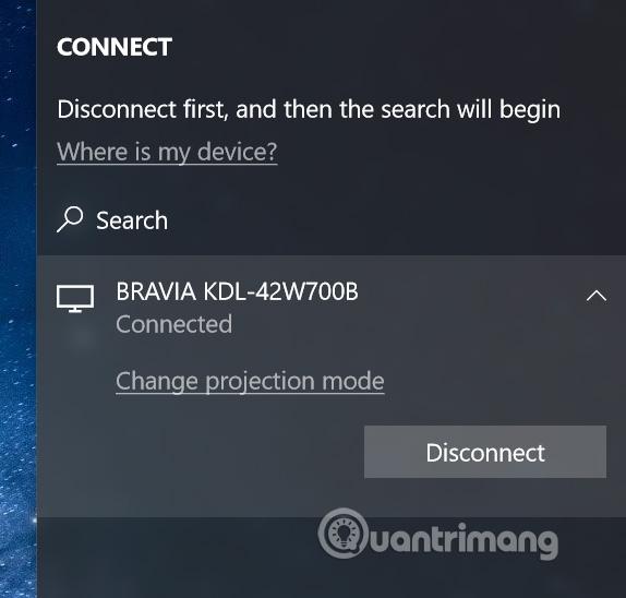 Click vào Disconnect
