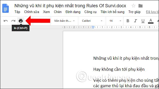 Cách in tài liệu trên Google Docs - Ảnh minh hoạ 5