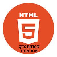 Các phần tử trích dẫn trong HTML